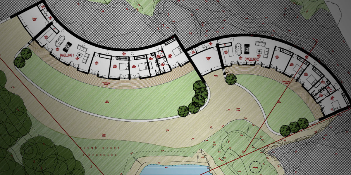 Plans for the Quarry, two low carbon dwellings in Penistone
