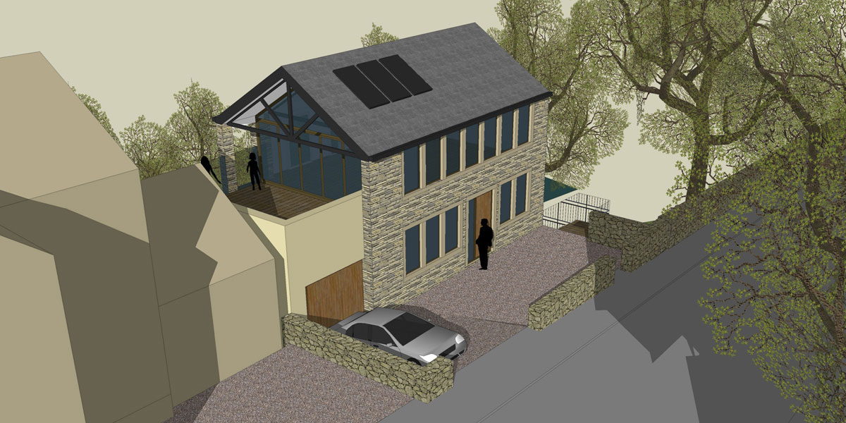 5 Rockside Road sketch bespoke design new build propery
