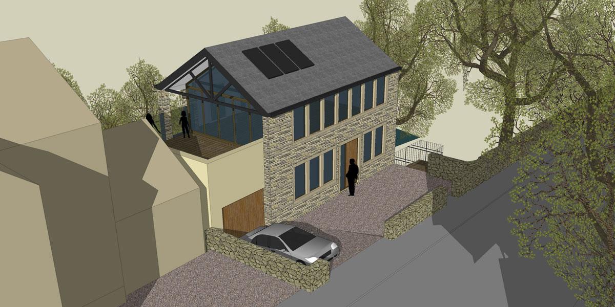 5 Rockside Road sketch bespoke design new build propery