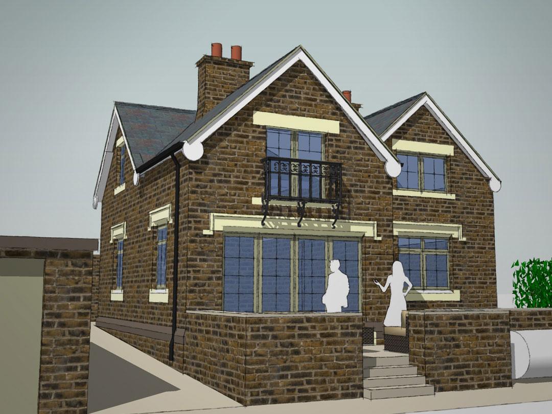 Cottage extension clever design doubles size of small for Cottage extension designs